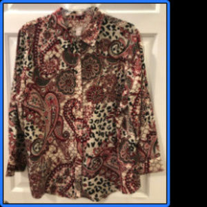 Chicos Patterned Blouse (Size 3)